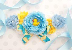 Pato de goma del bebé ducha marco pato azul Baby Shower