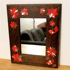 Mirror, mirror on the wall... handmade decoupage paper flowers