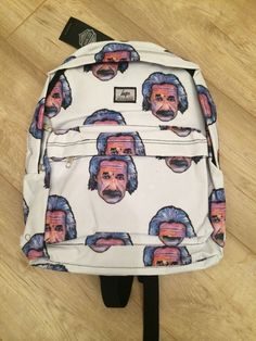 Hype Mens/Womens Rucksack Backpack Einstein Print - Brand New With Tags in Bags | eBay