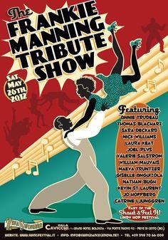 Frankie Manning official tribute - May Bologna, Italy Jazz Dance, Hip Hop Dance, Lets Dance, Dance Art, Swing Jazz, Swing Dancing, Social Dance, Music Illustration, Coloured Girls