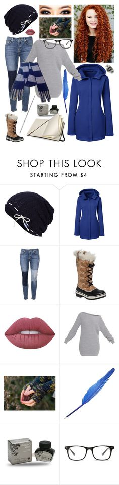 """""""'Thinking Out Loud'"""" by prettyflyforawifi ❤ liked on Polyvore featuring Keds, Lands' End, Victoria, Victoria Beckham, SOREL, Lime Crime, Pelikan and Moleskine"""