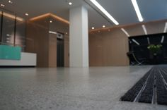 #Renovation to #terrazzo #flooring in commercial reception