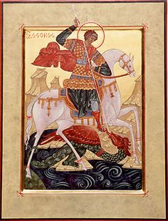 This is a lovely St. George and the dragon.  Very traditional an precise.