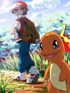 red & charmander