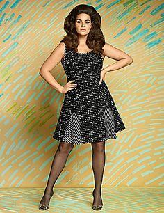 a0fedb13c92 Lace sport dress by Isabel Toledo. Isabel ToledoCandice HuffinePlus Size  Womens ClothingPlus Size FashionFashion CatalogueLane BryantKnit ...