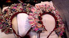 Traditional headdress Ukraine #Slavonik#Dekor#EFolk   ornament, decor, garniture, tracery, pattern, design, tracery, weave,