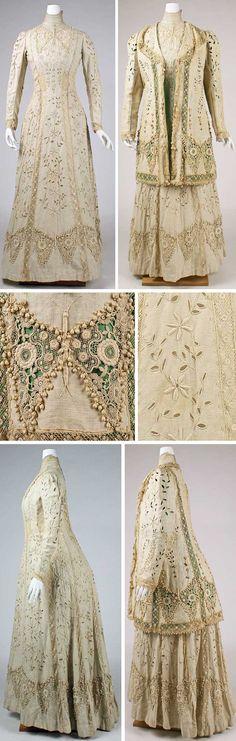 Ensemble, American or European, ca. 1910. Linen and silk. Metropolitan Museum of Art