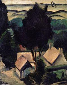 'Camiers Landschaft', öl auf leinwand von André Derain (1880-1954, France)
