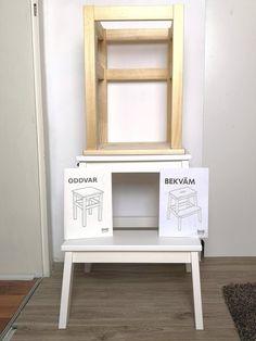 DIY Kochstuhl für Kinder - Ikea Hack für 30 Euro - kleinliebchen - New Ideas Ikea Closet Hack, Closet Hacks, Ikea Kids, Ikea Storage, Storage Hacks, Closet Storage, Montessori, Diy Bebe, Ikea Hacks