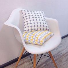 Купить Интерьерная декоративная подушка - разноцветный, геометрический орнамент, Геометрический рисунок, геометрический узор