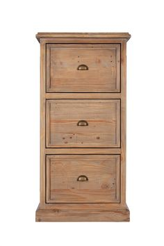 Bermuda 3 Drawer Filing Cabinet from George Tannahill & Sons