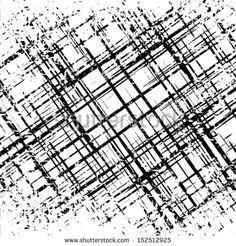 Grunge grid black and white texture. Vector ink grunge brush. Illustration background.