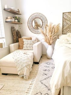 Room Design Bedroom, Room Ideas Bedroom, Home Decor Bedroom, Living Room Decor, Fall Bedroom, Bohemian Bedroom Decor, Boho Living Room, Cozy Living Rooms, Corner Chair For Bedroom
