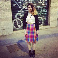 Tartan skirt, the TREND <3