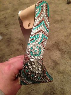 Bling twisted angel wing stirrups on Etsy, $145.00