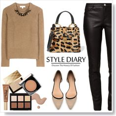 Neutral and black... by gul07 on Polyvore featuring Burberry, Rebecca Minkoff, Witchery, Miu Miu, Anastasia Beverly Hills, Lancôme and Too Faced Cosmetics