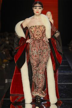 Sui He at Jean Paul Gaultier Haute Couture F/W 2012-13.