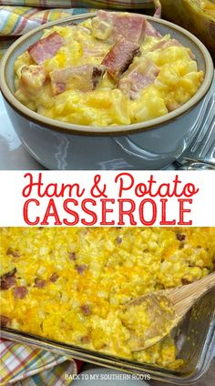 Ham and potato casserole is a cheesy, comforting, filling main dish that the entire family will love. The recipe can be made and in the oven in less than 15 minutes, and one hour to cook. #Ad #Sponsoredpost #IowaPork #USAPork @IowaPork Ham And Cheese Casserole, Dinner Casserole Recipes, Potatoe Casserole Recipes, Vegetable Casserole, Casserole Dishes, Breakfast Casserole, Potato Recipes, Dinner Recipes, Cheesy Recipes