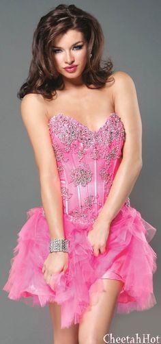 JOVANI - Authentic Designer Dress Strapless Beaded Short Ball Gown