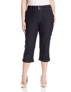 NYDJ Women's Plus-Size Kasia Cropped Jeans with Novelty Clasp ** Click on the image for additional details.