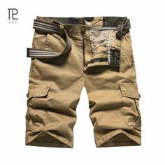 Cargo Shorts Mens 2017 Summer Wear Shorts Masculino Knee Length Casual Plus Size Leisure Outdoors Fashion Brand Short Homme 152 Men's Clothing