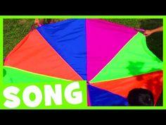 The Parachute Dance Song Physical Education Activities, Preschool Science Activities, Preschool Music, Movement Activities, Summer Activities, Parachute Songs, Parachute Games For Kids, Kids Church Games, Fun Songs
