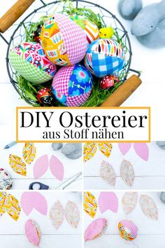 Completely successful: sewing Easter eggs from fabric - DIY idea for Easter - Fabric Crafts for Diy and Crafts Valentines Day Decorations, Valentine Day Crafts, Easter Crafts, Fabric Remnants, Fabric Scraps, Saint Valentin Diy, Valentines Day Drawing, Easter Fabric, Easter Egg Pattern