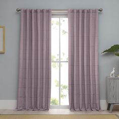 Linear Woven Ribbed Matelasse Window Curtain Panel - BedBathandBeyond.com