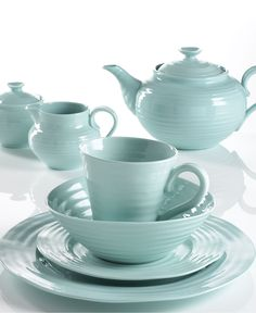 "Portmeirion ""Sophie Conran Celadon"" Dinnerware Collection - Casual Dinnerware - Dining & Entertaining - Macy's"