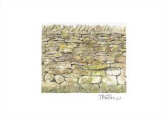 The Nature Reserve Wall, Embsay, North Yorkshire - A4 landscape print, £12.00