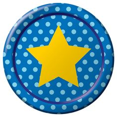Spritz™ Lunch Plate Yellow Star on Blue Polka Dot 10 Count  Target  sc 1 st  Pinterest & Large Polka Dot Paper Dessert Plates | Polka dot paper Elmo ...