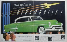 1953 OLDSMOBILE 88 vintage illustration car advertisement automotive by Christian Montone, via Flickr