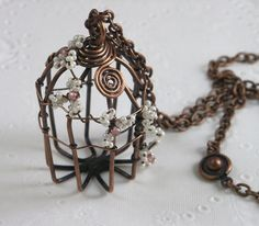 Copper Wire Birdcage by MaryTucker, via Flickr