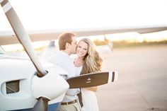 Great article on Engagement Sessions!  Airplane Jupiter Engagement Session Thompson Photography Group