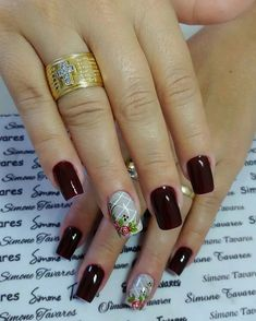 Cabello Hair, Uñas Fashion, Fun Nails, Nail Colors, Nail Designs, Nail Art, Beauty, Red Toenails, Glitter Nails