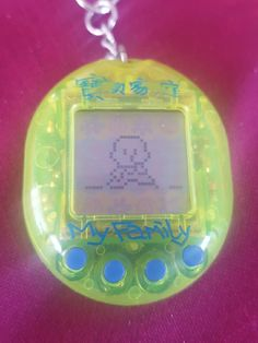 My baby v pet... had to take the innards out of the original shell and put them in a my family shell... this is the first ever vpet i got in 1997!!!