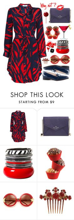 """""""Why not?"""" by an-italian-brand ❤ liked on Polyvore featuring Piamita, Kate Spade, Forum, Silikomart, Wildfox, Chanel, Dolce&Gabbana, red, Blue and clean"""