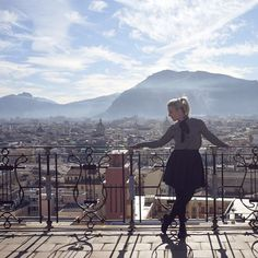 The grand opera... The dominating skyline of Palermo. Above the roof-top of one of the most majestic theaters in Europe.
