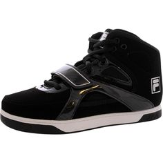 huge discount fb42a c5f37 Fila - Boy s Under Dog 2 Sneakers - Black Silver Big Kids, Basketball Shoes