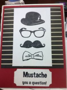 I used a mustache stamp set