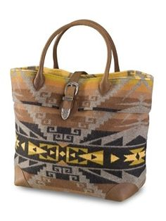 I'm just completely taken by native american prints and this pendleton bag makes my heart flutter...