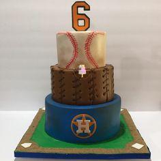 Houston Astros baseball cake