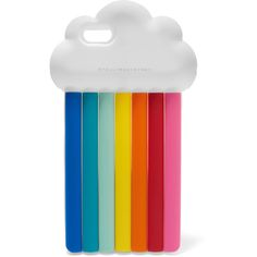 Stella McCartney Rainbow silicone iPhone 6 case ($76) ❤ liked on Polyvore featuring accessories, tech accessories, white and stella mccartney