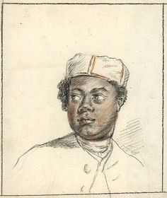 Anonymous (2nd half 18th cent.). (Portrait of a black young man)