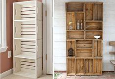 Modelos de estanterías de cocina con cajones reciclados