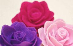 Rosas em feltro.