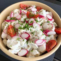 Danish Food, Dessert, Caprese Salad, Feta, Salad Recipes, Grilling, Recipies, Brunch, Cheese