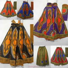 how to mke dashiki maxi skirt Printed Maxi Skirts, Long Maxi Skirts, Ankara Skirt, Dress Skirt, Dress Red, Midi Skirt, African Wear, African Attire, African American Clothing