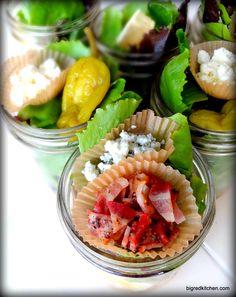 one hour, three salads, six mason jar meals: Big Red Kitchen