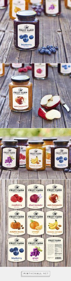 Fruit Farm Organic Jams on Behance - created via http://pinthemall.net
